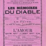 Affiche d'une représentation donnée au Théâtre de Bourg le 30 mai 1886