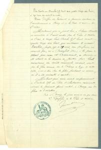 Certificat d'exécution de Joseph Vacher, 31 décembre 1898