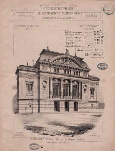 Façade du Théâtre de Bourg conçu par l'architecte Tony Ferret