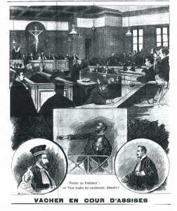 Joseph Vacher devant la Cour d'assises de l'Ain en 1898
