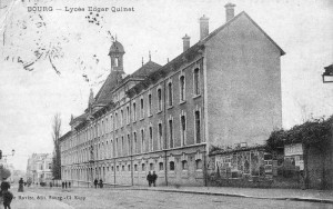 La façade du lycée sur l'avenue Alsace-Lorraine