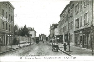 L'avenue Alphonse Baudin menant à la gare