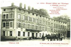 Le Grand Hôtel de l'Europe en haut du cours de Verdun