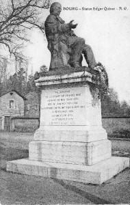 Statue d'Edgar Quinet par Aimé Millet inaugurée en 1883 aux Quinconces, Bourg-en-Bresse