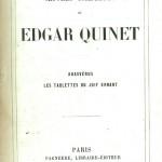 Un volume des Œuvres complètes d'Edgar Quinet publié en 1858