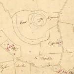 La poype de Ligneux à Saint-Jean-de-Thurigneux sur le cadastre de 1825