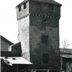 La tour de guet était intégrée aux fortifications médiévales de Bâgé-le-Châtel
