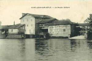 Le moulin Gaillard et sa retenue d'eau à Saint-Jean-sur-Veyle
