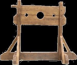 Le pilori ou carcan servait à exposer un condamné en place publique.
