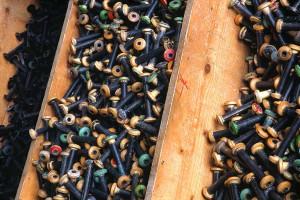 Les soieries Bonnet à Jujurieux : des bobines par milliers