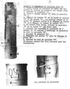Notice de démontage d'un cylindre de type « H » utilisé lors des parachutages