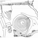 Plan de la poype de Saint-Cyr-sur-Menthon avec ses courbes de niveau