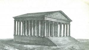Reconstitution du temple d'Izernore par Hubert de Saint-Didier au début du XIXe siècle