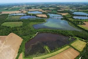 Survol du pays aux mille étangs